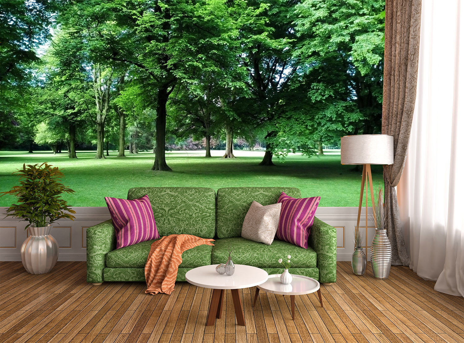 3D Greening park forest Wall Paper Print Decal Wall Deco Indoor wall Mural