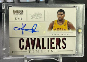 2012-13 National Treasures KYRIE IRVING Timeline RC ROOKIE PATCH AUTO /49