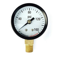 Pressure Gauge 160 Psi 1-1/2 Diameter1/8 Npt Bottom Mount G2001-160