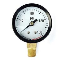 Pressure Gauge 160 Psi 1-1/2 Diameter1/8 Npt Bottom Mount G2001-160