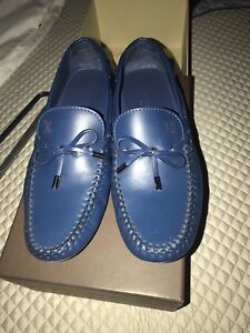 015e355534b2 Image is loading Louis-Vuitton-Mens-Shoes-Blue-Tassel-Loafers-Drivers