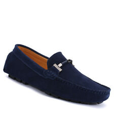 Men Fashion Driving Loafers Casual Flat Moccasins Suede Shoes Slip On Boat Shoes