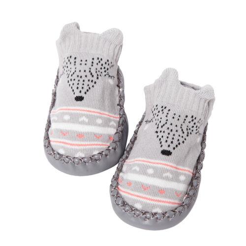 EP/_ Toddler Non-Slip Boot Socks Kids Baby Cartoon Warm Shoes Anti-slip Slipper A
