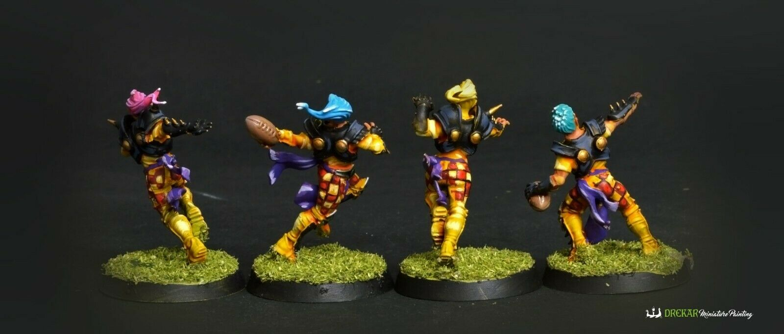 The The The Elfheim Eagles Blood Bowl  COMMISSION  painting 53e7e8