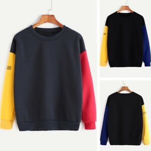 Fashion-Plus-Size-Women-039-s-Long-Sleeve-Blouse-Letter-Print-Sweatshirt-Top-T-shirt