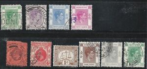 HONG-KONG-1903-TO-1938-10-CANCELLED-STAMPS-AND-REPRESENTING-HISTORY