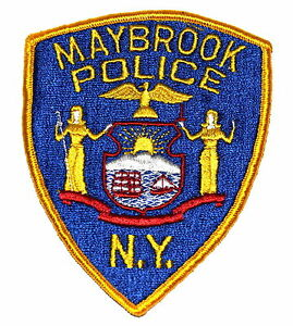 Image is loading MAYBROOK-NEW-YORK-NY-Police-Patch-STATE-SEAL-