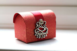 Red Chest Indian Wedding Favours Gift Box Sanji Reception