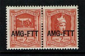 Italy-AMG-FTT-Revenue-2-Lire-Pair-Mint-Hinged-Hinge-Rem-S1757