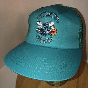 7dce93730c8b2 NWT VTG CHARLOTTE HORNETS 80s 90s UII Trucker Hat Cap Snapback NBA ...