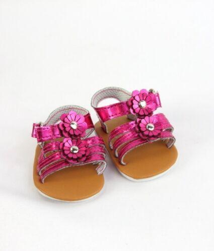 "18/"" Doll Shoes Metallic Flower Sandals fits 18/"" Doll Sandals 3 Colors"