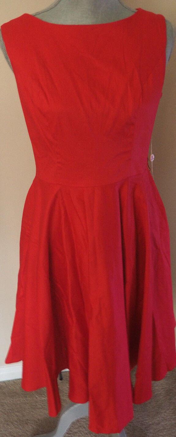 Vintage - New GRACE KARIN Red Swing Dress - Medium