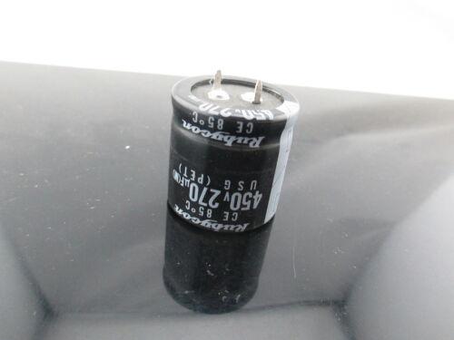 4pcs RUBYCON USG 270uf 450v 270mfd Capacitor long life 85C 30*30 mm