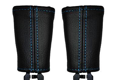 Bleu coutures fits volvo v50 2004-2009 2x siège avant couvre en cuir ceinture tige