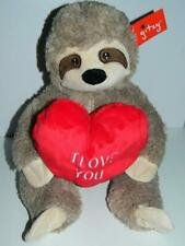 """Sloth Plush Valentines Day I Love You Heart Stuffed Animal Toy Gift 16/"""" New"""