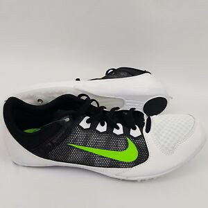 Nike Rival MD 616312-103 Mens Shoes Size 11.5 Running 7 Spikes White/Black/Green