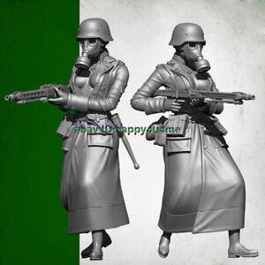 YUFAN-Model-1-35-Female-gunner-Garage-Kits-Unpainted-Soldier-Figure-Model-Resin