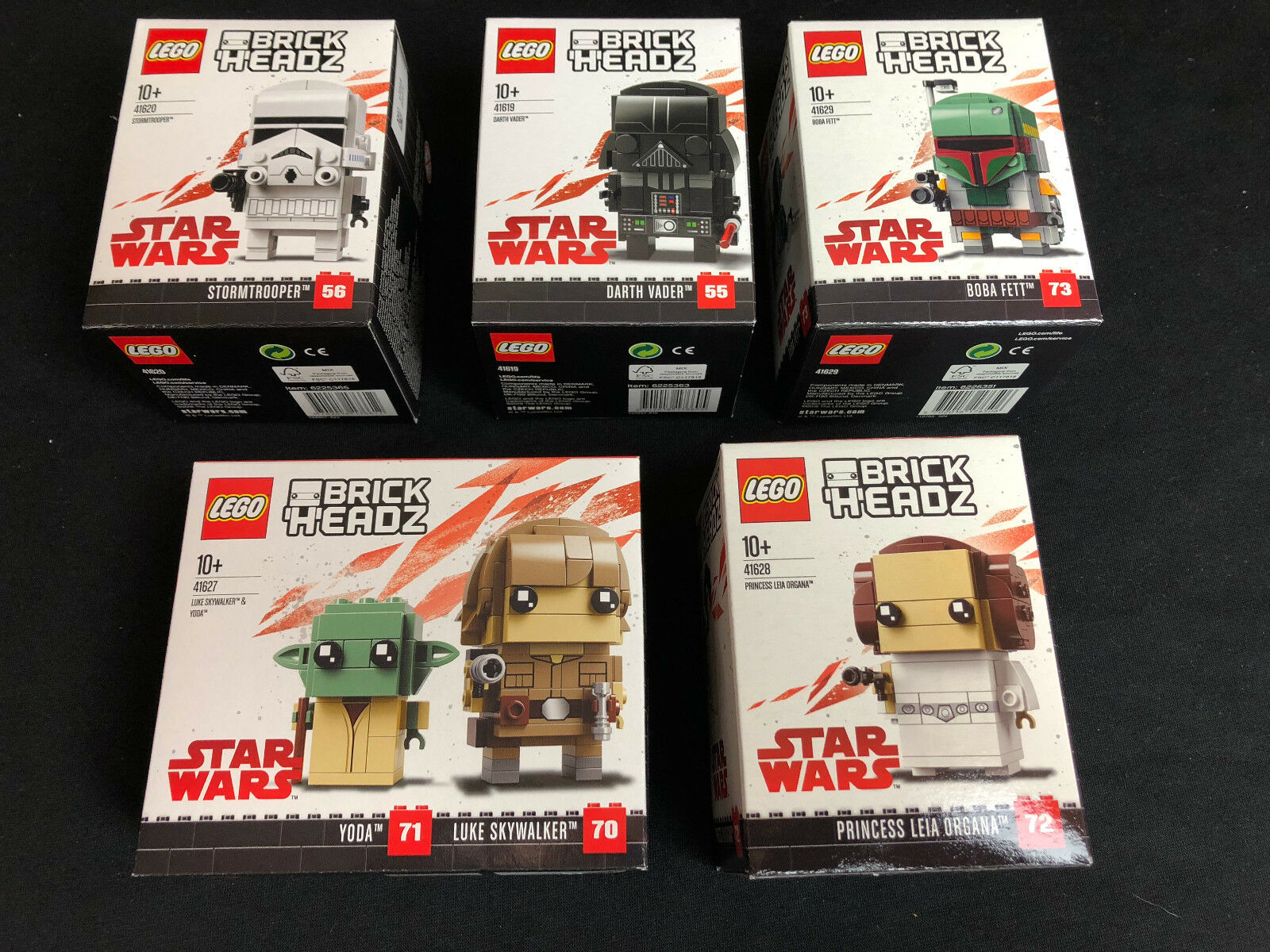 LEGO ®  41619 41620 41627 41628 41629  Brickheadz Vader Stormtrooper New Neu
