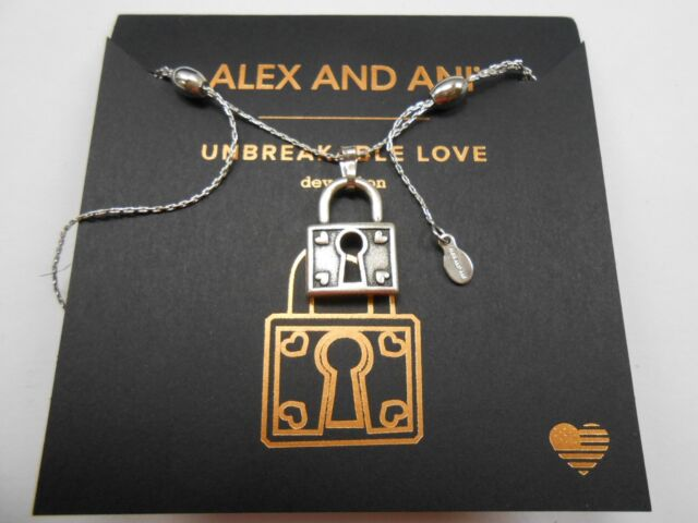 Alex and Ani LOVE IV NECKLACE Rafaelian Silver New W//Tag Box /& Card SPRING 2017