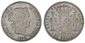 20-SILVER-REALES-PLATA-ISABELLA-II-ISABEL-II-MADRID-1858-VF-MBC-OFERTA