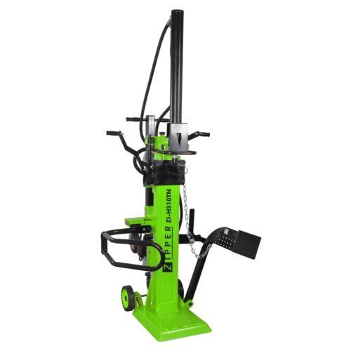 Zipper Holzspalter ZI-HS10TN mit E-Motor Spalter Brennholzspalter 11 to Fahrwerk