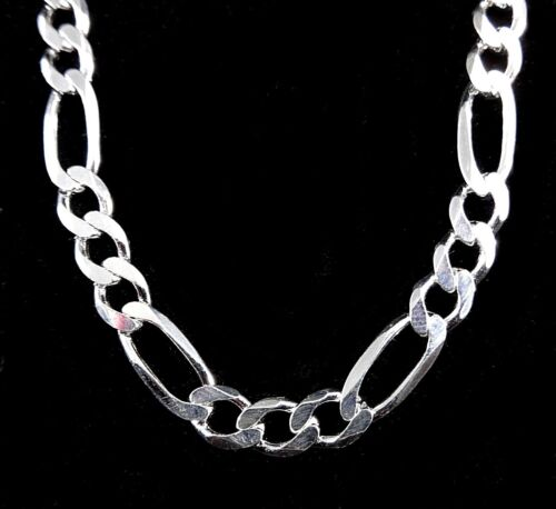 6MM Solid 925 Sterling Silver Italian Men/'s FIGARO Chain Necklace Made In Italy