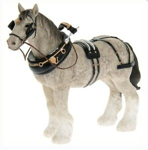 Large Grey Shire Horse Statue by Leonardo Grey Shire Horse Ornament Figurine
