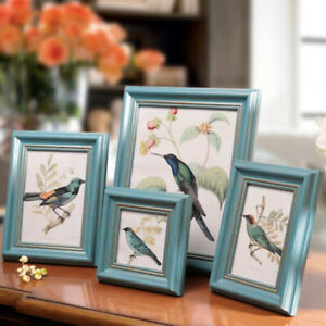 Nordic Style Wooden Picture Family Frame Classic Home Wall Table Photo Holder