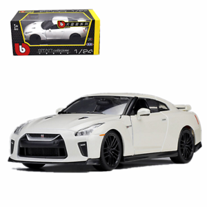 Bburago 1 24 Nissan 2017 GTR Metal Diecast Model Car Toy New 2 colors