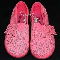 Joe Boxer Hot Pink & Silver Toddler/Girls Slip/On Shoes  Size 10