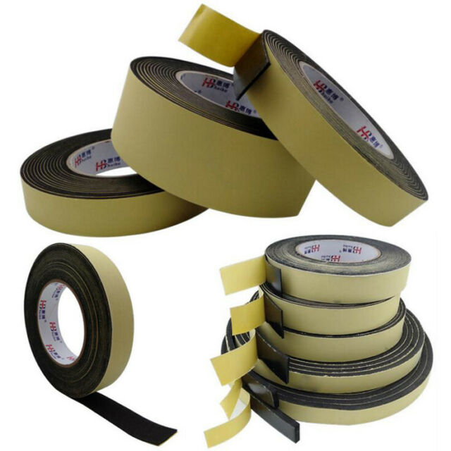 10 Pcs Black Strong Double Sided Adhesive Tape Sponge Tape 15MM Width 5M Long