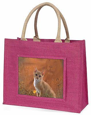Geist der Löwe über den Kätzchen zu sehen Große Rosa Einkaufstasche