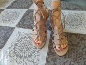 Steve-Madden-Beige-Gladiator-Sandals-SIze-7-5M
