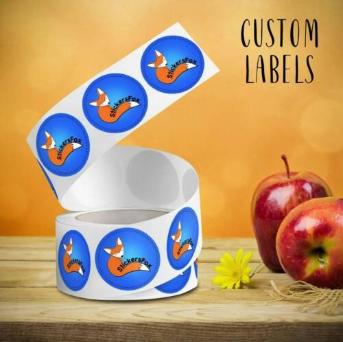 "circle Custom glossy roll labels 2/"" 1000 items"