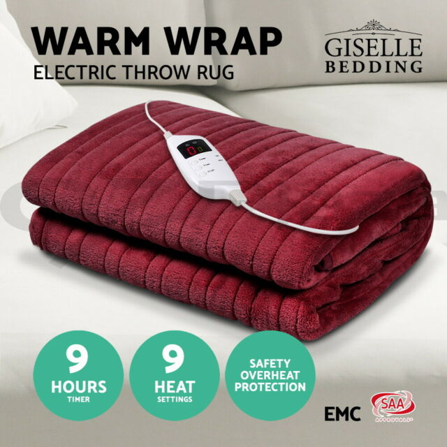 Washable Heated Electric Throw Rug
