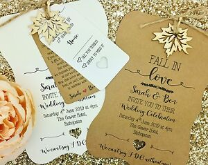 Rustic Autumn Wedding Invitation, Fall wedding Invitation, Fall In Love