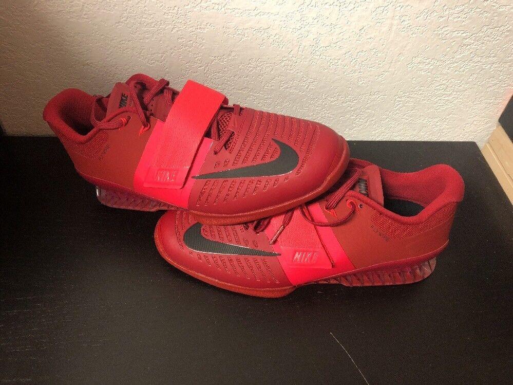 Nike Romaleos 3 Siren Red Training Sz Weightlifting Shoe (852933-601) Mens Sz Training 11.5 715b2a