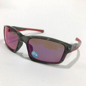 Oakley Sunglasses * Chainlink 9247-10 Grey Smoke OO Red Iridium Polarized