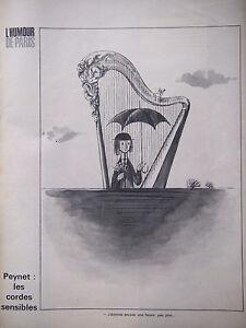 DESSIN-DE-PRESSE-1961-DE-PEYNET-LES-CORDES-SENSIBLES