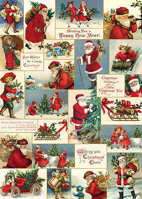 Cavallini Victorian Christmas Wrapping Paper