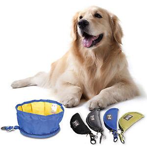 Fabric-Folding-Dog-Cat-Pet-Bowl-Food-Water-Fold-Up-Portable-Travel-Pet-Drinking