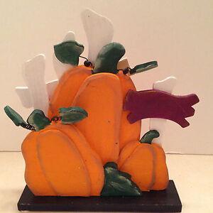 Halloween-Panels-Solid-Wooden-Pumpkin-Fence-Decoration-Collectible-Standing-Art