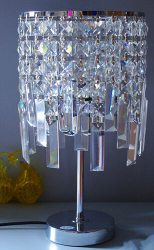 20PCS Crystal Glass Pendant Square Bead Garland Strand for Chandelier Lamp Parts