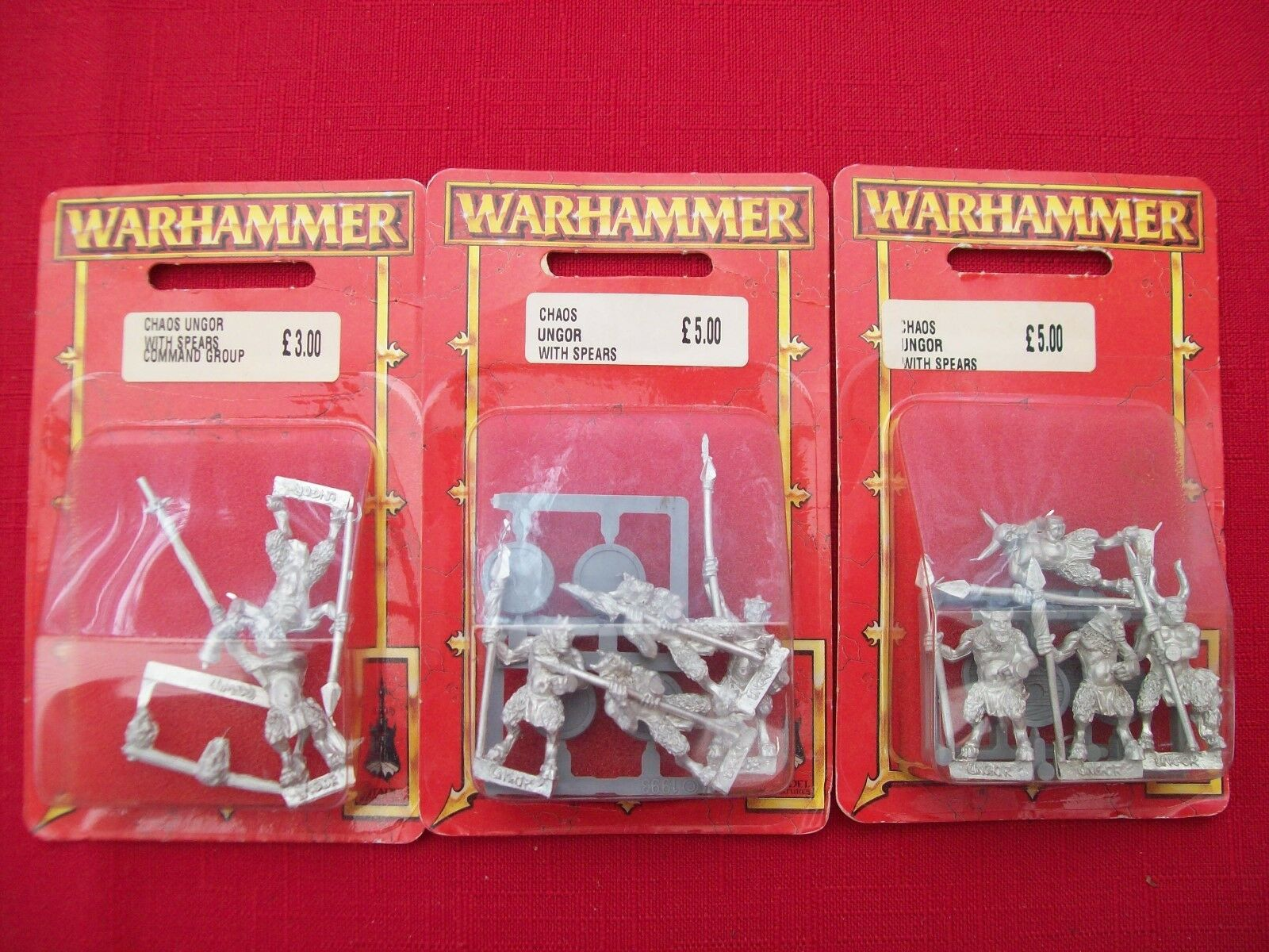Warhammer Chaos Ungor with Spears Command Group x 1 and Ungor with Spears x 2 -