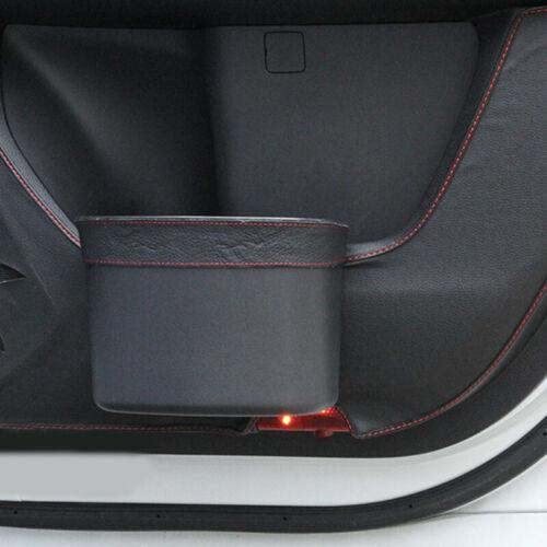 Car Door Trash Rubbish Can Garbage Dust Auto Seat Back Dustbin Bag  Storage Box