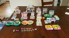 Lot of vintage Polly Pocket houses/figures