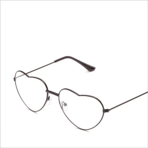 Retro Plain Glasses Literary Heart-shaped Personality Glasses Frames Men Women