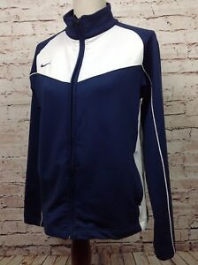 5accde06bac2 NIKE Dri-Fit Team Boy s Track Jacket Large (12-14) Navy White Zip Up ...