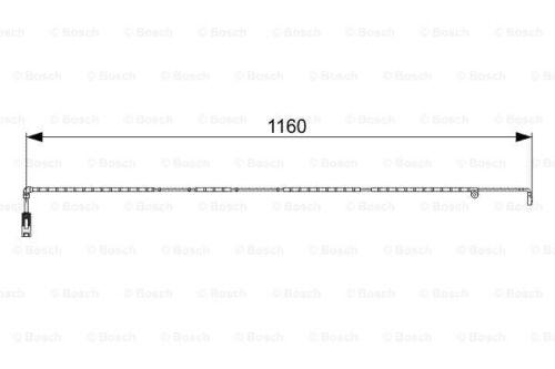 BOSCH Warnkontakt Bremsbelagverschleiß 1 987 473 055 für LANDROVER RANGE hinten