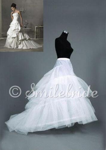 2 Hoop White Regular Plus Size Wedding Gown Train Petticoat Underskirt Crinoline